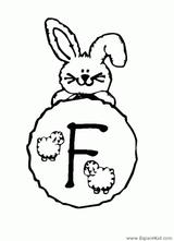 Imprimer le coloriage : Lettre f, numéro 52812