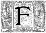 Imprimer le coloriage : Lettre f, numéro 595426