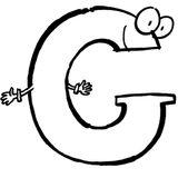 Imprimer le coloriage : Lettre g, numéro 125076