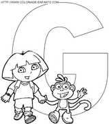 Imprimer le coloriage : Lettre g, numéro 66846