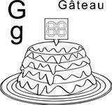 Imprimer le coloriage : Lettre g, numéro 7715f1bb