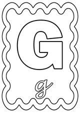 Imprimer le coloriage : Lettre g, numéro 96dcc59f