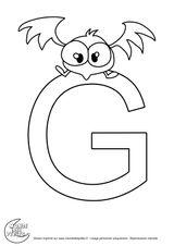 Imprimer le coloriage : Lettre g, numéro e1228a57