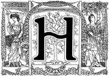 Imprimer le coloriage : Lettre h, numéro 353444