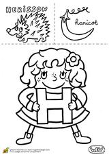 Imprimer le coloriage : Lettre h, numéro 52531