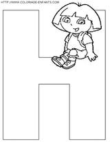 Imprimer le coloriage : Lettre h, numéro 66871