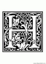 Imprimer le coloriage : Lettre h, numéro 67208