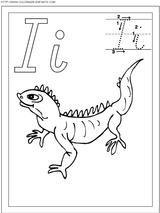 Imprimer le coloriage : Lettre i, numéro 52548