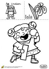 Imprimer le coloriage : Lettre i, numéro 52552