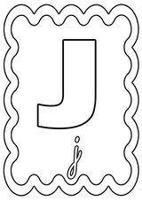 Imprimer le coloriage : Lettre j, numéro 249990