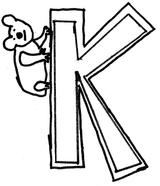 Imprimer le coloriage : Lettre k, numéro 125130