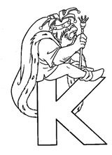 Imprimer le coloriage : Lettre k, numéro 125300