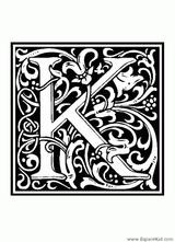 Imprimer le coloriage : Lettre k, numéro 138743