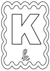 Imprimer le coloriage : Lettre k, numéro 242580