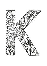 Imprimer le coloriage : Lettre k, numéro 345882fc