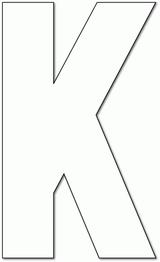 Imprimer le coloriage : Lettre k, numéro 760393