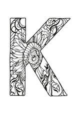Imprimer le coloriage : Lettre k, numéro 85877c4e