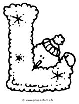 Imprimer le coloriage : Lettre l, numéro 125132
