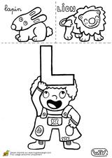 Imprimer le coloriage : Lettre l, numéro 66941