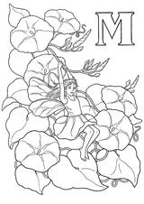 Imprimer le coloriage : Lettre m, numéro 224943