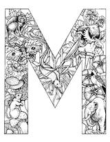 Imprimer le coloriage : Lettre m, numéro 52806