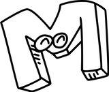 Imprimer le coloriage : Lettre m, numéro 7efe4e8