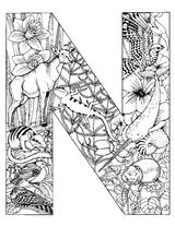 Imprimer le coloriage : Lettre n, numéro 52619