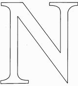 Imprimer le coloriage : Lettre n, numéro 678334