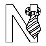 Imprimer le coloriage : Lettre n, numéro c46a9bdc