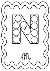 Imprimer le coloriage : Lettre n, numéro c6f019f4