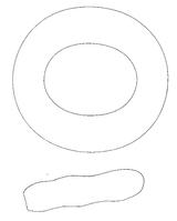 Imprimer le coloriage : Chiffres-et-formes - Alphabet - Lettre-o numéro 678336