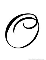 Imprimer le coloriage : Chiffres-et-formes - Alphabet - Lettre-o numéro 756193