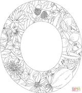 Imprimer le coloriage : Lettre o, numéro df179585