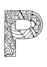Imprimer le coloriage : Lettre p, numéro 19c22d07