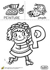 Imprimer le coloriage : Lettre p, numéro 52651