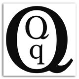 Imprimer le coloriage : Lettre q, numéro 125206