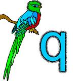 Imprimer le coloriage : Lettre q, numéro 237389