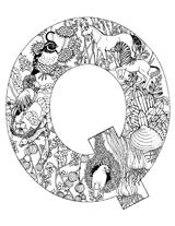 Imprimer le coloriage : Lettre q, numéro 52656