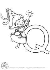Imprimer le coloriage : Lettre q, numéro 70ac6831