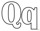 Imprimer le coloriage : Lettre q, numéro 825521ef