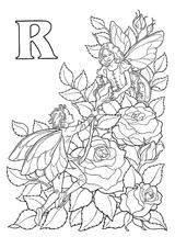 Imprimer le coloriage : Lettre r, numéro 284026