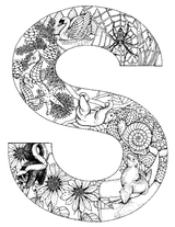 Imprimer le coloriage : Lettre s, numéro 294524