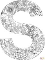 Imprimer le coloriage : Lettre s, numéro 4f3ac219
