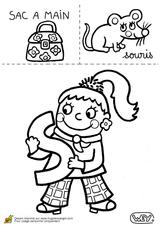 Imprimer le coloriage : Lettre s, numéro 67091