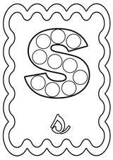 Imprimer le coloriage : Lettre s, numéro d6d88647