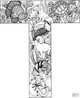 Imprimer le coloriage : Lettre t, numéro 3400b5d1