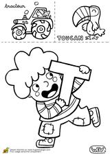 Imprimer le coloriage : Lettre t, numéro 67108