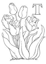 Imprimer le coloriage : Lettre t, numéro 67117