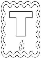 Imprimer le coloriage : Lettre t, numéro 756202