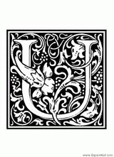Imprimer le coloriage : Lettre u, numéro 282305